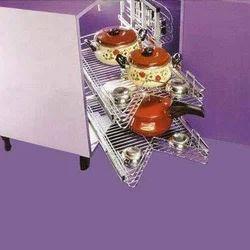 KAFF Stainless Steel Kitchen Carousel Corner Units