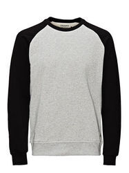 Dual Color Round Neck Sweat Shirt
