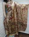 Katan Silk Madhubani Print Unstitched Suit