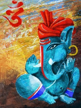 Lord Ganesha Oil Painting at Rs 2450 /no(s) | Gt Road ...