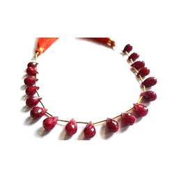 Dyed Red Color Drops Gemstone Jewellery
