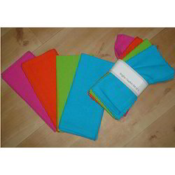 Cotton Plain Solid Napkin Set, Size: 40x40 Cms