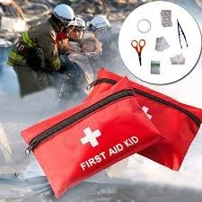 Red First Aid Kit Pouch Bag