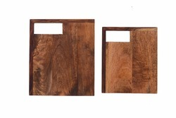Wooden Chopping Board Set of Two