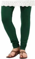 Dark Green Cotton Leggings