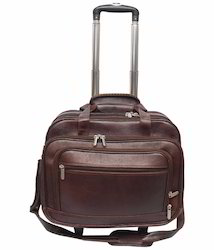 New Leather Traveling And Luggage Strong Brown Black Bag