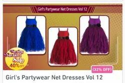 Girls Party Wear Net Dresses