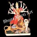 Marble Mahishasura Mardini Statue