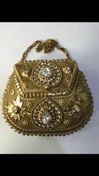 J. V. Handicraft Small Metal Clutch