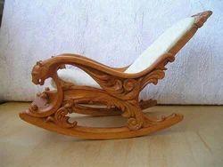 Jayanth Enterprises Modern Monark Rocking chair, For Home, Finish: Polished