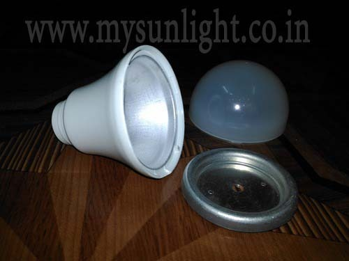 MY SUNLIGHT Pc+aluminium LED Bulb Housing, Shape: Round