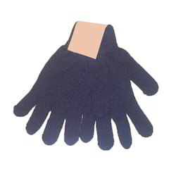 Blue Knitted Hand Gloves