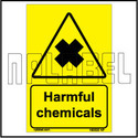 160020 Harmful Chemicals Signs Stickers