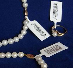 White Jewellery Barcode Tags