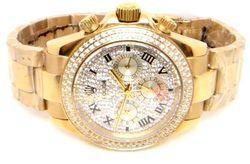 Rolex Full Golden Diamond Dail Watch