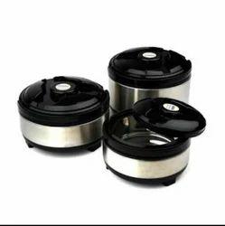 Silver 3pc Steel Casserole Set