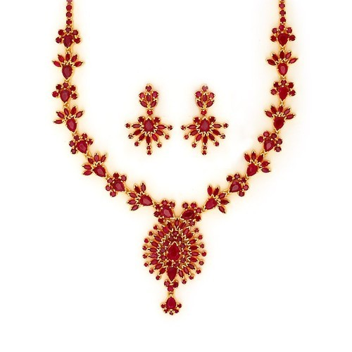 41d9a26aeccd9 Ruby Necklace Set