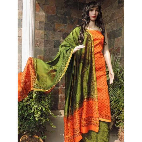 Ladies Silk Dress Material   Ramesh Collection   Manufacturer in ...