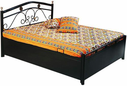 Metal Furniture Metal Double Bed Manufacturer From Mumbai