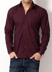 Casual Cotton Plain Shirt
