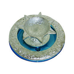 Round Glass Metal Deepak