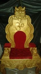 Golden Simhasanam For Acharyas