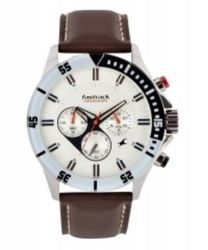 Fastrack Leather Chronograph Watch
