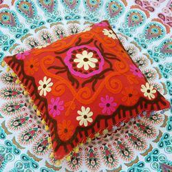 Indian Hand Made Suzani Cushion Cover Home Decor