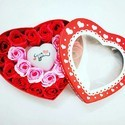 Valentine Gifts Glowing Heart with High Quality Roses