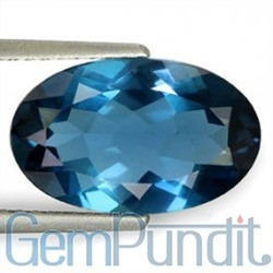 3.93 Carats London Blue Topaz
