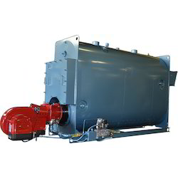 Oil & Gas Fired 500-1000 kg/hr 3 Pass Wet Back Boiler IBR Approved