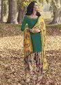 Ladies Embroidered Tusser Silk Suit