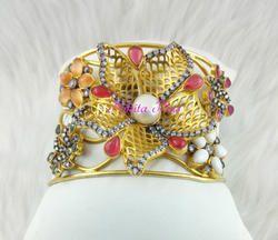 Nikita Plus Pink Antique Designer Kada