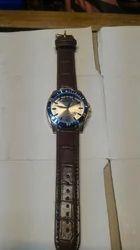 Leather Wrist Watch