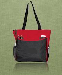 Two Pockets and Single Handle Organic Canvas Tote Bag