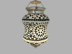 Antique Mosaic Hanging Light