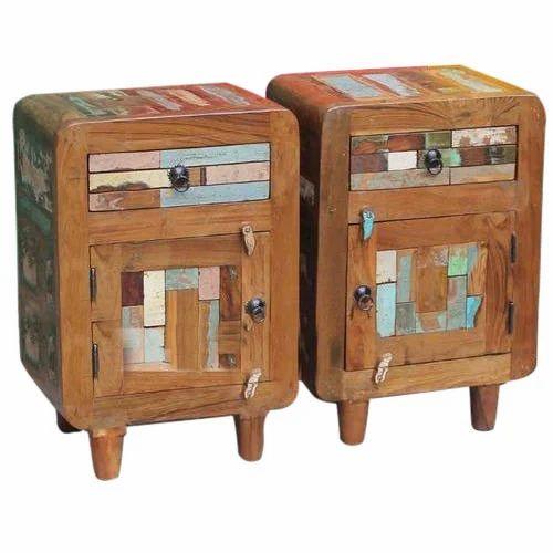 Teak Wood Bedside Furniture