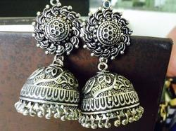 Oxidised Fancy Earring