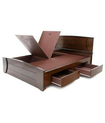 Wooden Double Storage Cot Factory Bed At Rs 14000 Piece