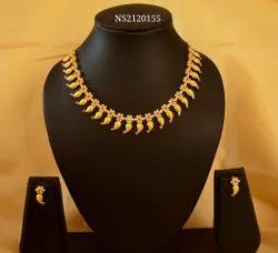 Mango Ruby Emerald Necklace