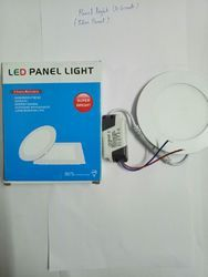 Cool And Pure White Ceramic And Chrome LED Panel Light