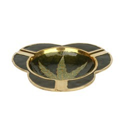 Ashtray Brass Tringle Cigaratte Holder Ashtray