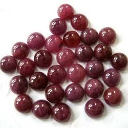 Natural Ruby Cabochon Stone