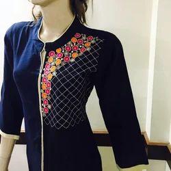 Rayon Embroidered Kurti