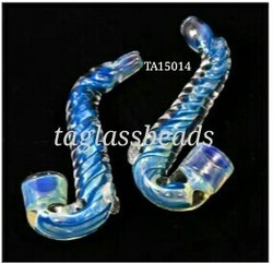 Spiral Sherlock Glass Bat Pipe