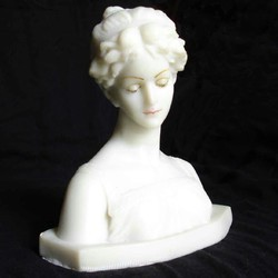 English Lady Face In Resin Lady English