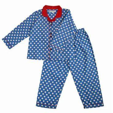 b6780b5b469d Blue Polka Dot Night Suit for Boys at Rs 600  set