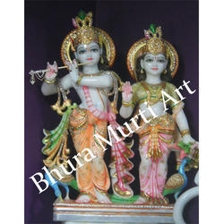 Beautiful Marble Radha Krishna Statue