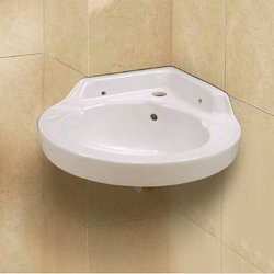 Florence Wall Mounted Plain Bathroom Wash Basin, Dimension: 700 X 410 X 130 mm