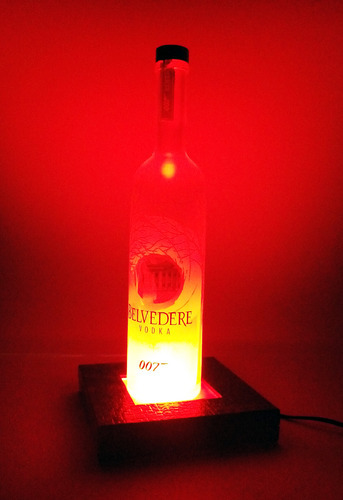 Table Top Glass Bottle Lamp